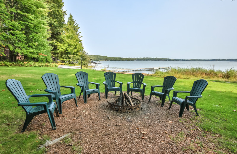 Rental fire pit at Hiller Vacation Homes.