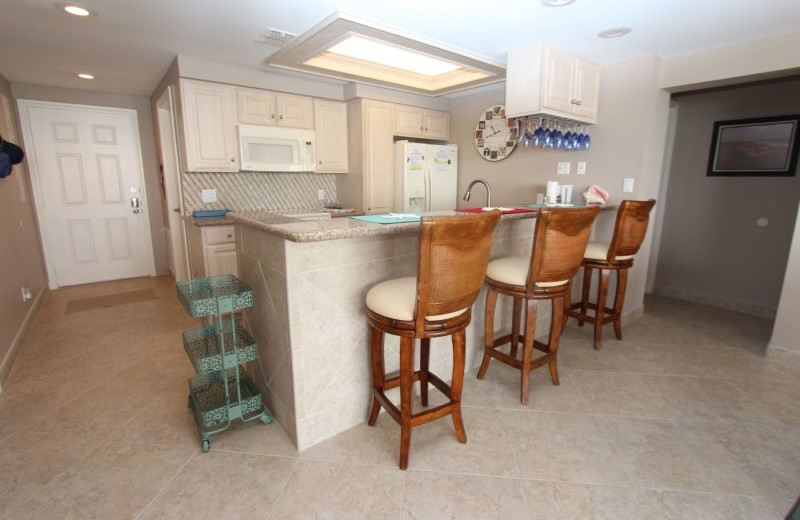 Rental kitchen at Seabreeze 1.
