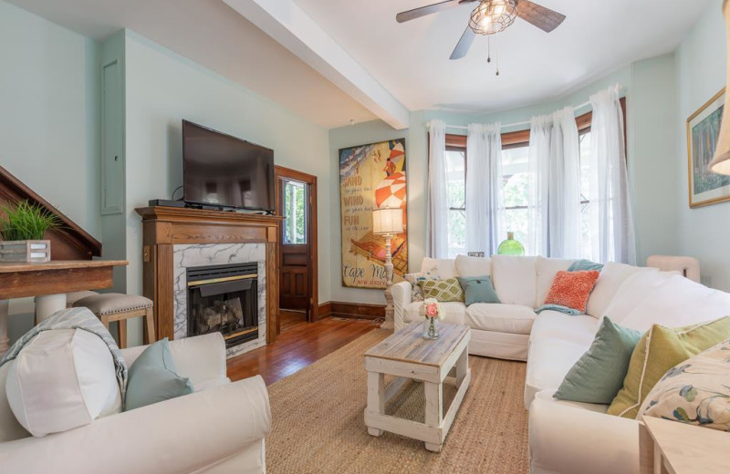 Rental living room at Jersey Cape Realty.