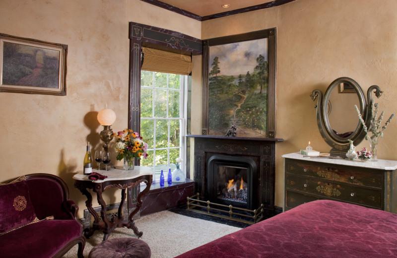 Guest room at Morgan-Samuels Inn.