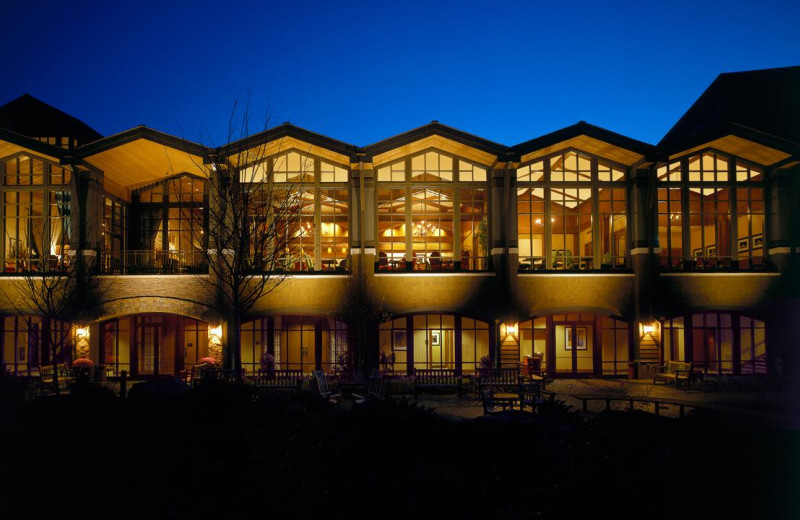 Exterior view of The Lodge at Woodloch.
