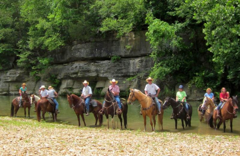 Horseback riding at Bucks and Spurs Guest Ranch.
