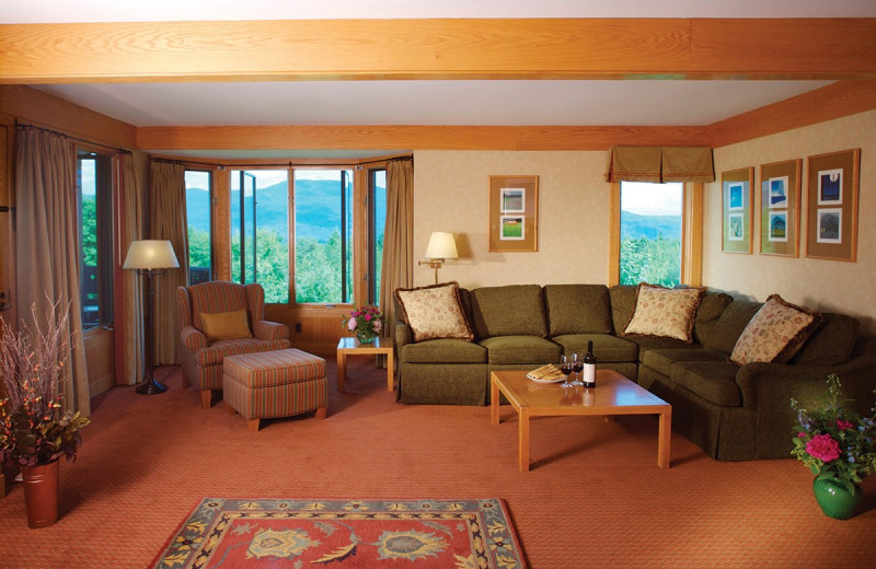 Guest living room at Trapp Family Lodge.