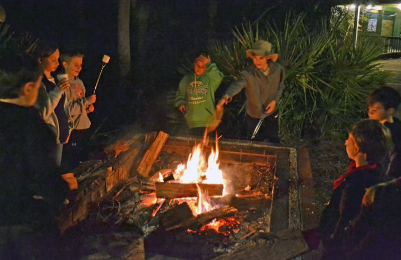 Bonfire at Fripp Island Golf & Beach Resort.