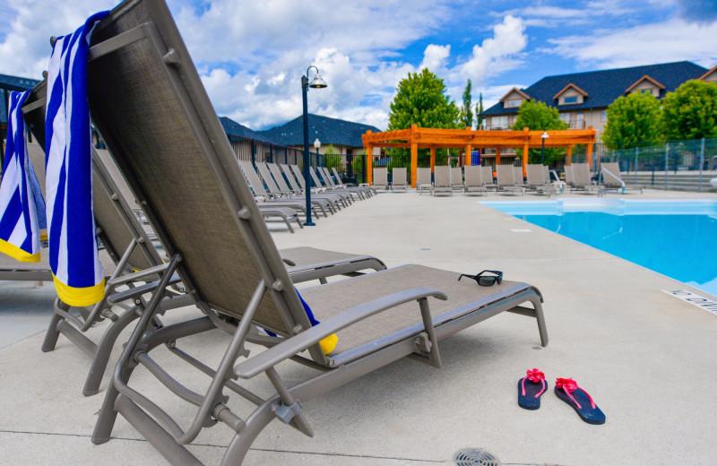 Outdoor pool at Bighorn Meadows Resort.