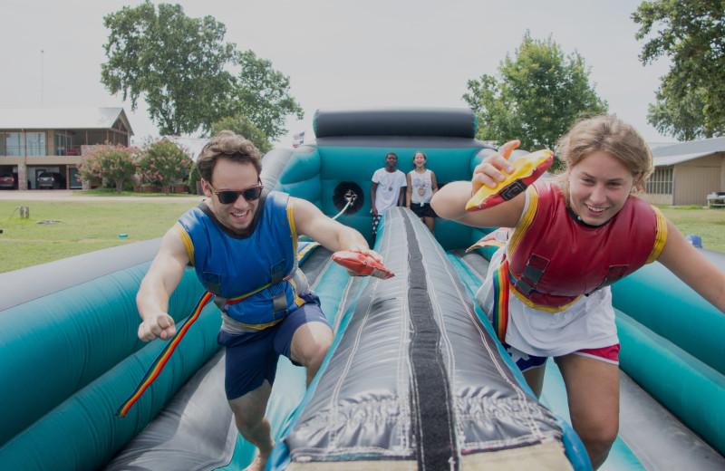 Water slide at Camp Champions on Lake LBJ.