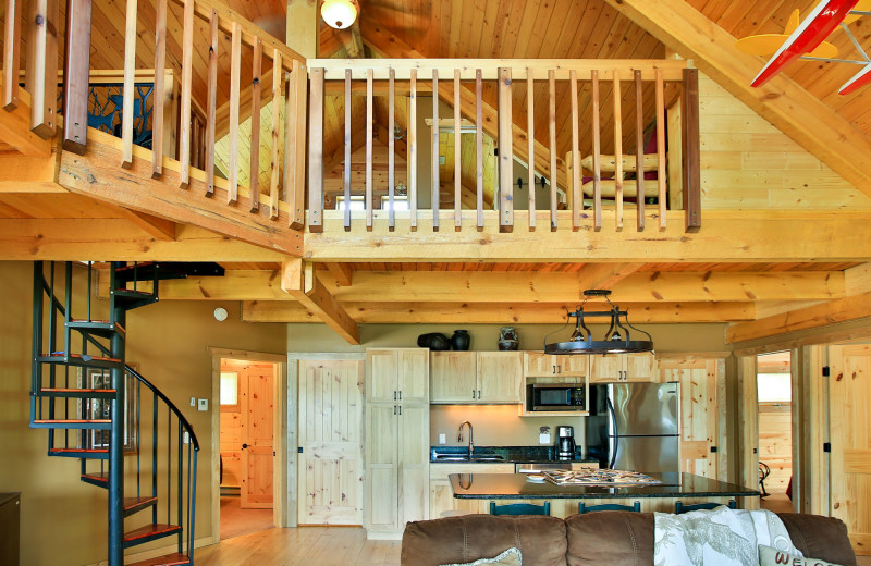 Cabin loft at Northern Lights Resort & Outfitting.