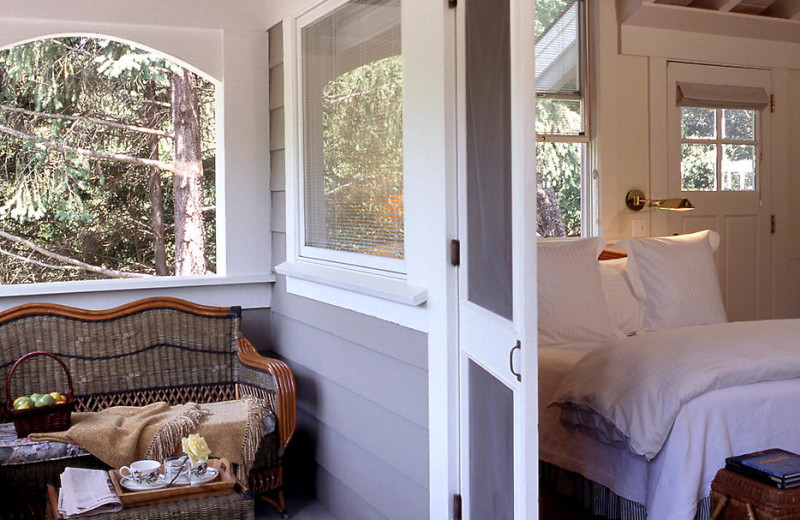 Porch area at Meadowood Napa Valley.
