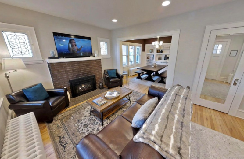 Rental living room at Minnestay.