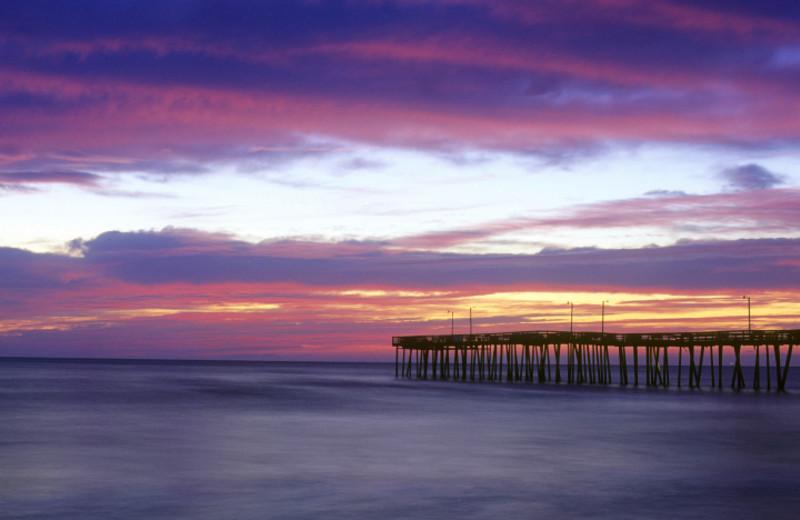 Fishing pier at Alouette Beach Resort.