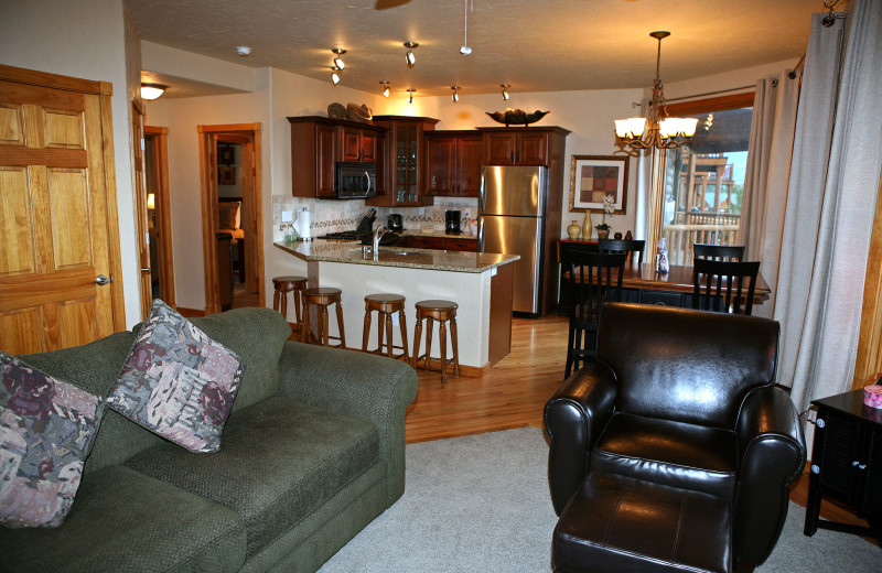 Vacation rental interior at Marys Lake Vacation Condos.