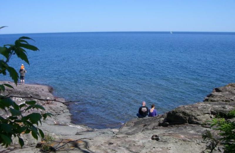 Lake Superior near Eagle Ridge at Lutsen Mountains.