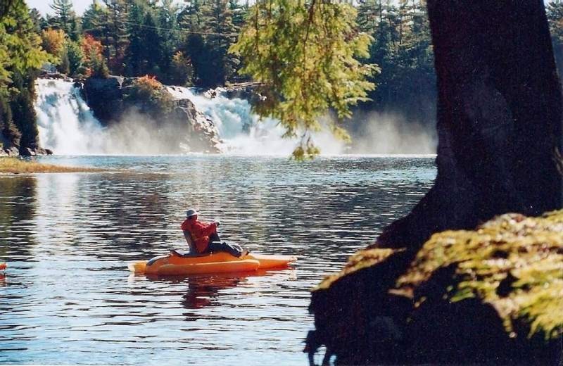 Water activities at High Falls Cottage Resort & Water Park.