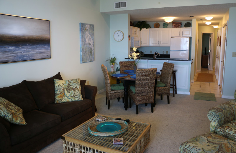 Living room at Sunset Properties.