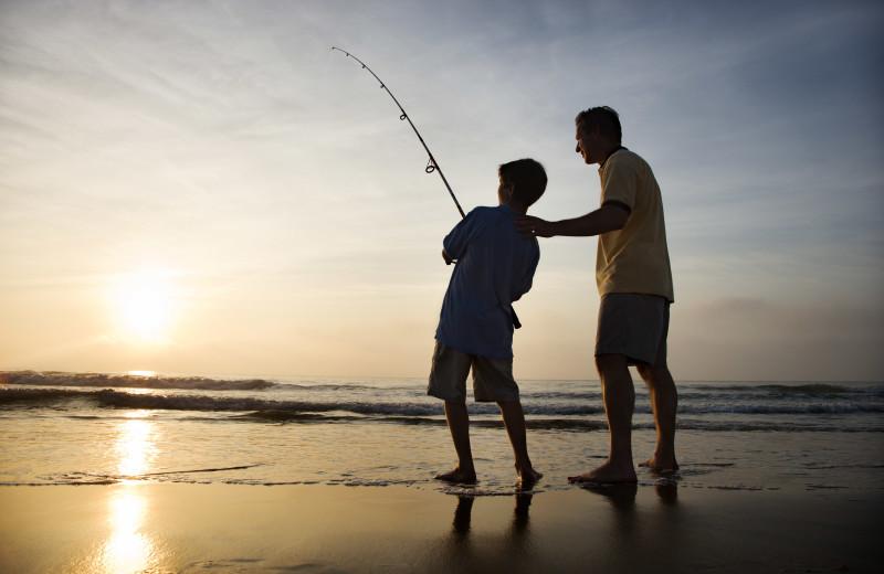 Fishing at Williamson Realty Vacations.