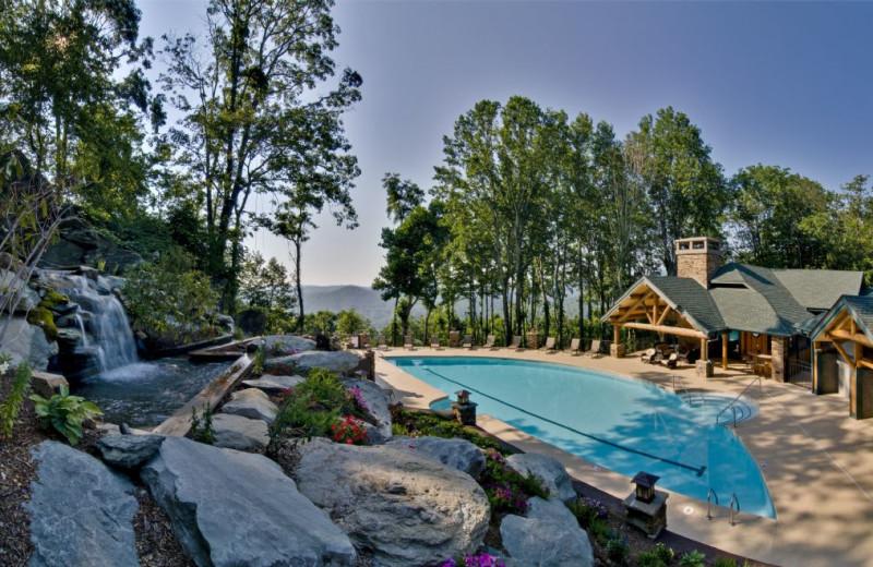 Outdoor pool at Foscoe Rentals.