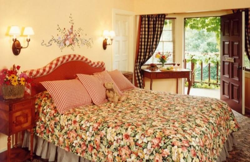 Guest room at Maison Fleurie, A Four Sisters Inn.