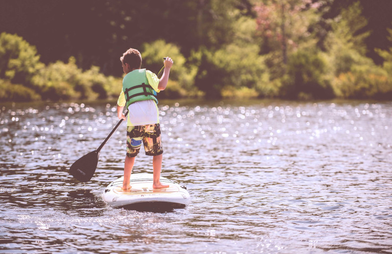 Paddle boarding at Premier Vacation Rentals @ Smith Mountain Lake.