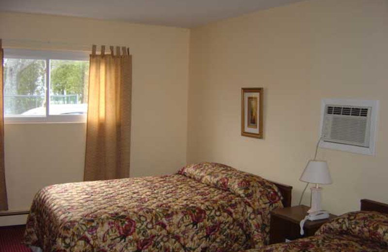 Guest room at Smith Point Motel.