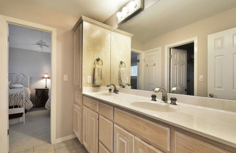 Bathroom at Serene Hill Country Home.