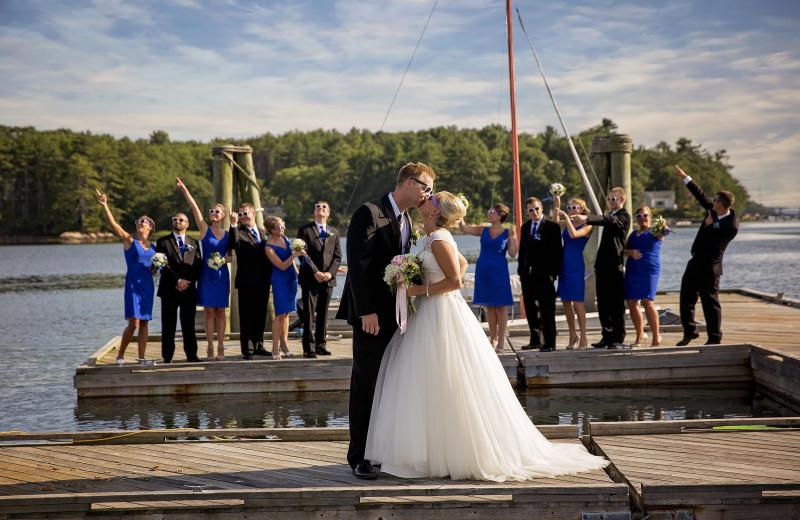 Wedding at Sheepscot Harbour Village & Resort.