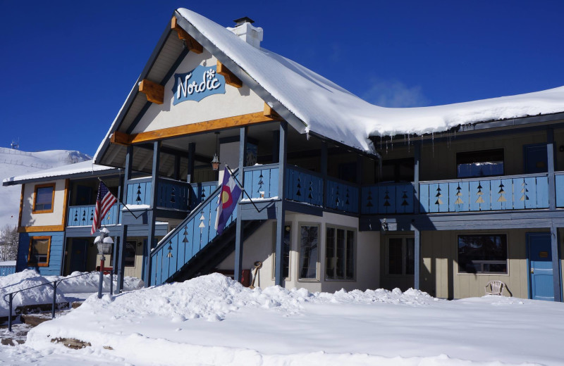 Exterior view of The Nordic Inn.
