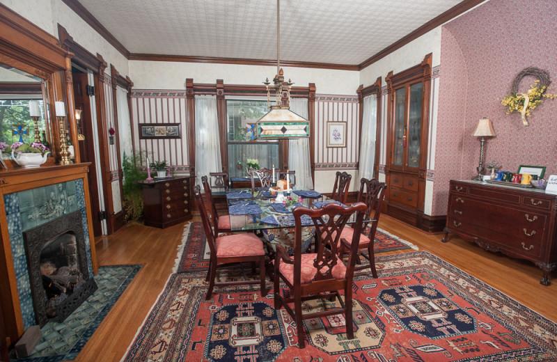 Dining room at Market Street Inn.