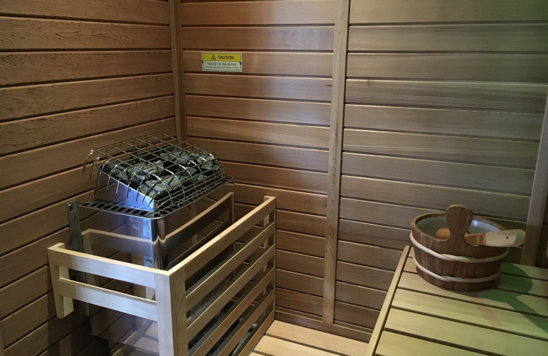 Sauna at The French Manor Inn and Spa.