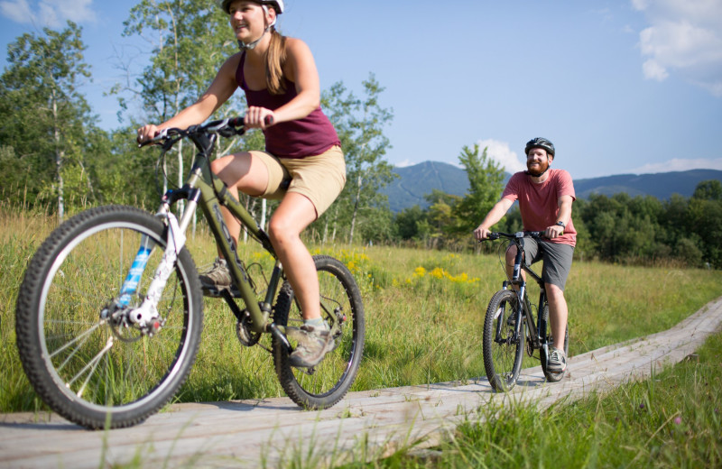 Biking at Smugglers' Notch Resort.