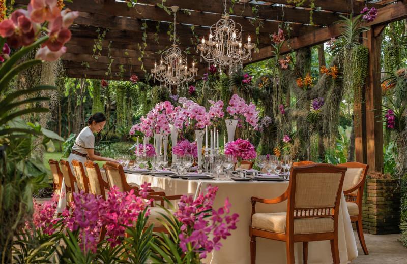Dining at Regent Resort - Chiang Mai at Mae Rim Valley.