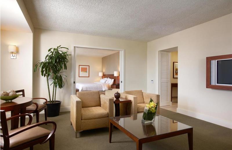 Guest room at The Westin Pasadena.