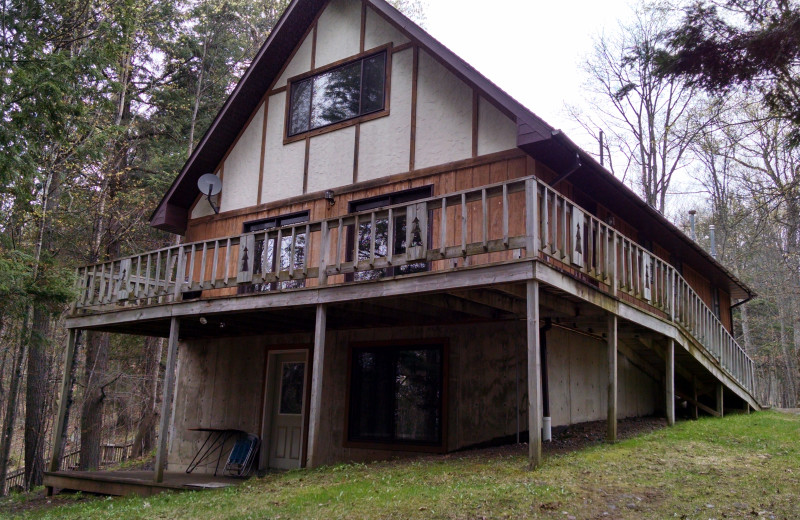 Cabin exterior at The Arrows.