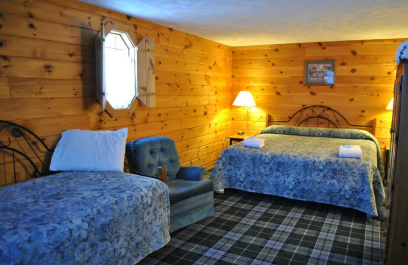Guest room at Whitecap Mountains Resort.