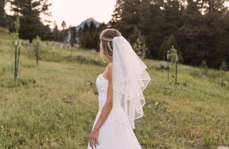 Bride at Hardscrabble Ranch.