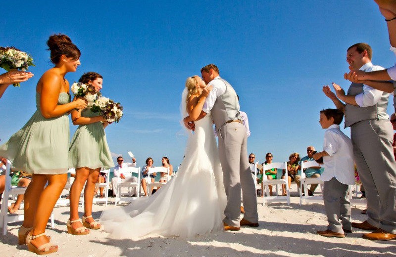 Beach wedding at Casa Ybel Resort.
