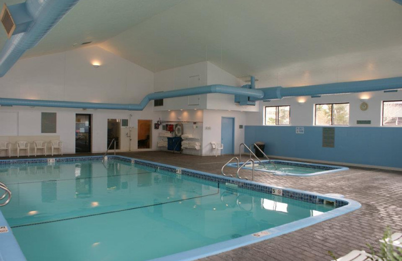 Indoor pool at Harbor Lights Resort.