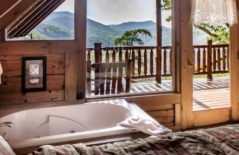 Rental bedroom at Natural Retreats Great Smoky Mountains.