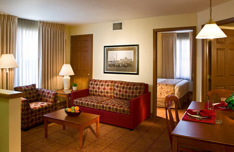 Guest suite at TownePlace Suites Detroit Sterling Heights.