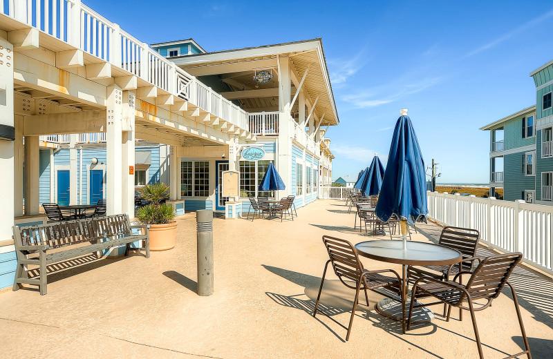 Rental patio at Pointe West Properties.
