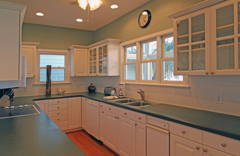 Rental kitchen at Island Realty.