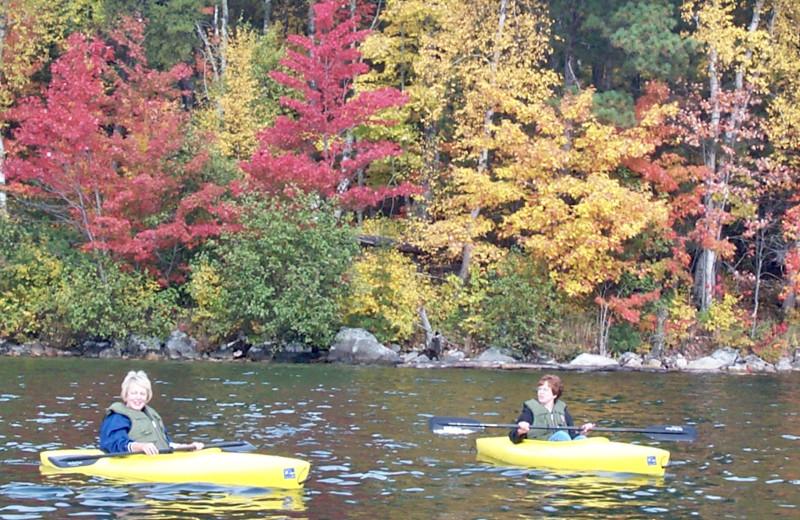 Kayaking at Buckhorn on Caribou Lake.