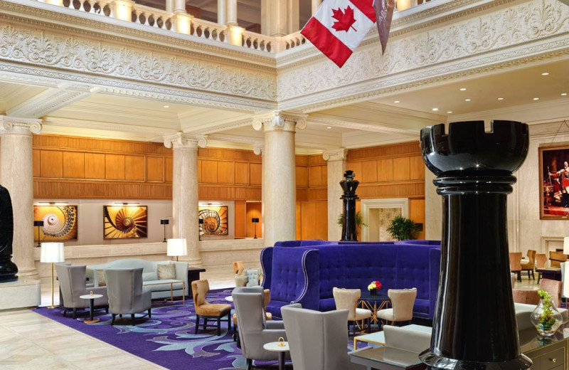Lobby at The Omni King Edward Hotel.