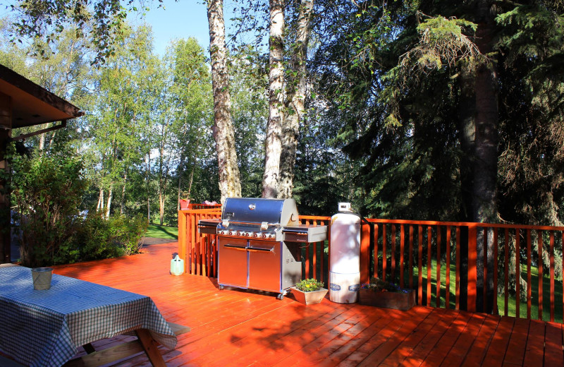 Deck at Soldotna B&B Lodge and Alaska Fishing Charters.