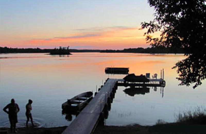 Dock Sunset at Sunset Bay Resort