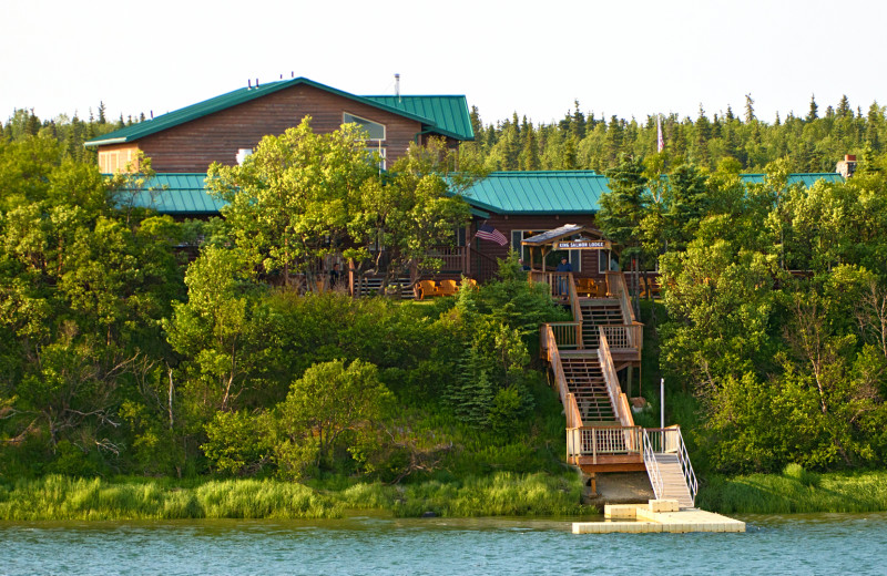 Exterior view of King Salmon Lodge.