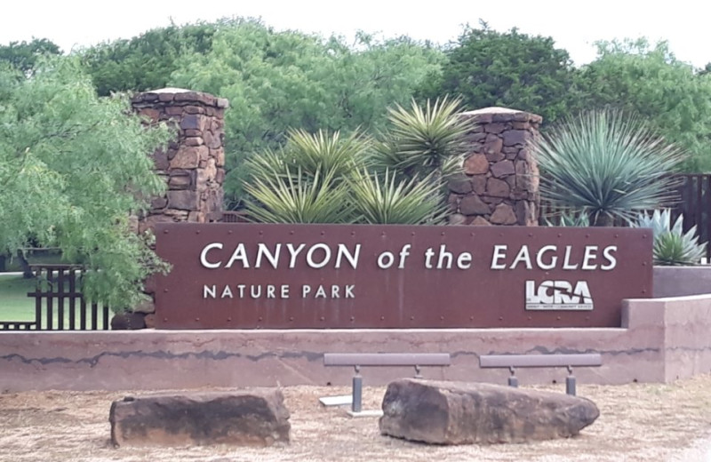 Welcome sign at Canyon of the Eagles.