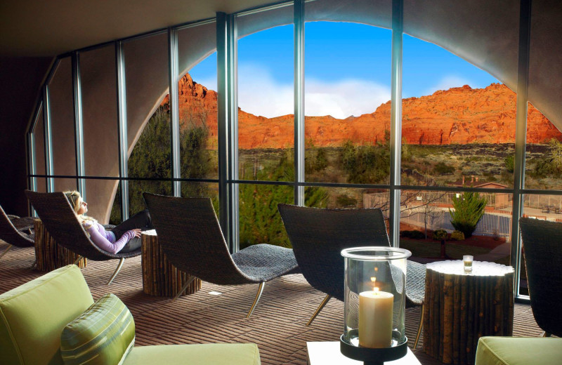 Relaxing at Red Mountain Resort & Spa.