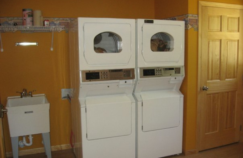 Laundry facilities at Wil-O-Wood Resort.