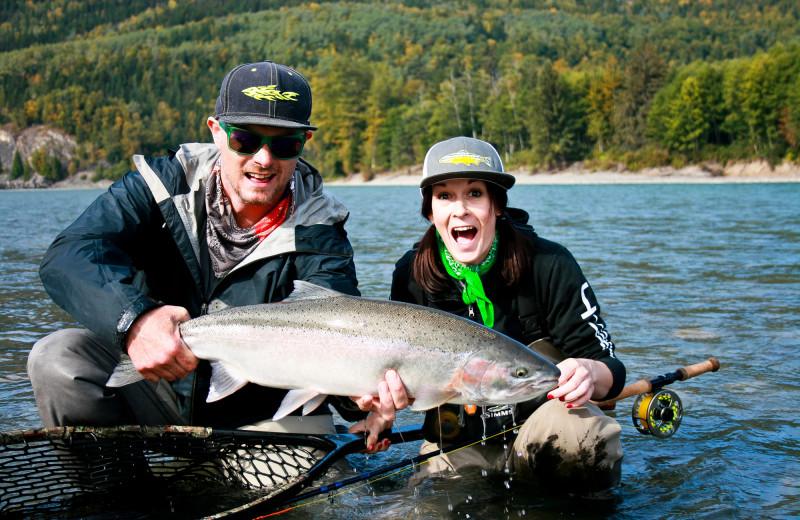 Fishing at Skeena Spey.