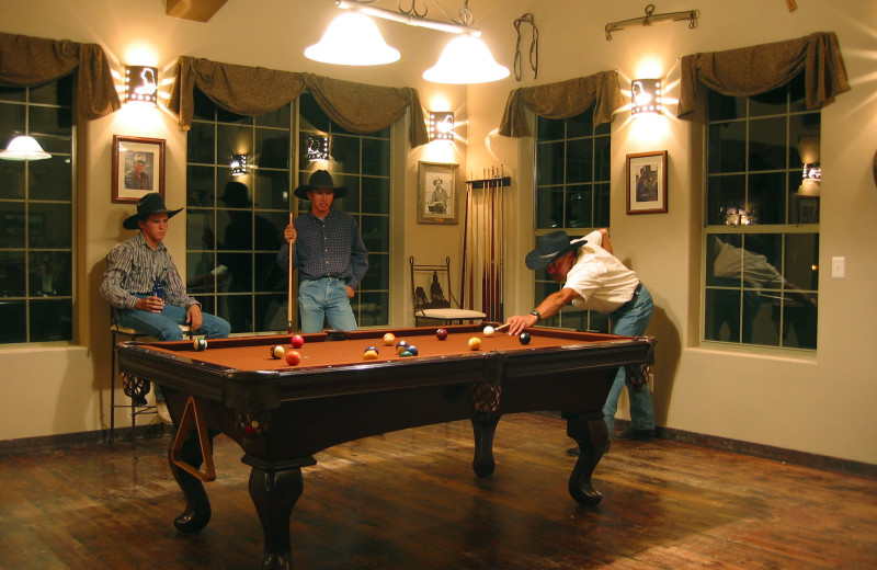 Billiards table at Stagecoach Trails Guest Ranch.